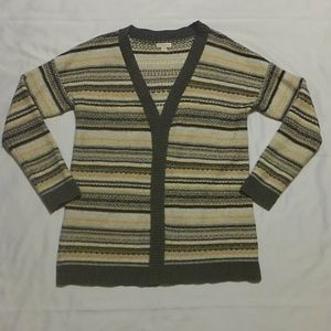 Merona LS Open Front Knit Cardigan Sweater XL
